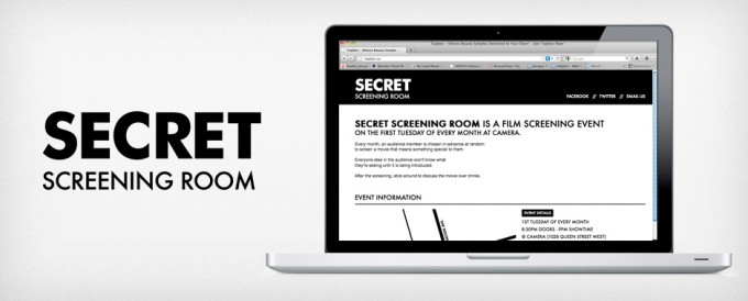 SECRET SCREENING ROOM Identity and Website